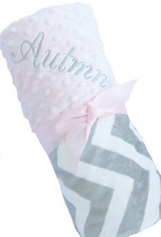 Hey, I found this really awesome Etsy listing at https://www.etsy.com/listing/188478929/mini-size-personalized-baby-blanket-gray