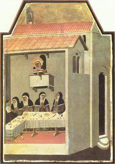 le mense nei dipinti medievali - Cerca con Google