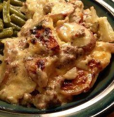 Cheesy Meat & Potatoes Recipe - Allthecooks.com