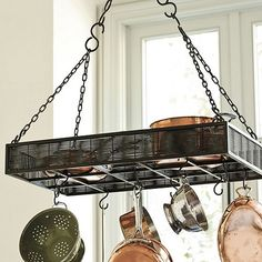 pot racks for small kitchens | Found on ballarddesigns.com