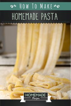 We'll show you how to make the best homemade pasta recipe. Check these quick and easy recipe tips on how to make pasta whenever you please- right at home!