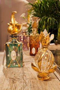 Perfume bottles, porcelain details