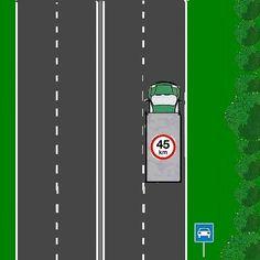 14 Mag de vrachtauto hier rijden?