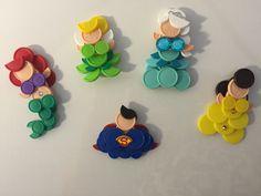 Vial cap superheroes & princesses
