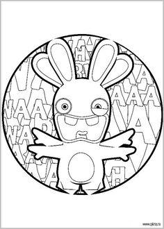 16 Meilleures Images Du Tableau Coloriage Lapin Crétin Bunnies