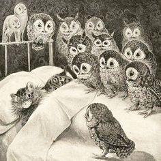 Cat's Nightmare by Louis Wain 1890