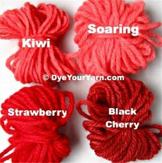 Every thing you need for Kool-Aid dyeing (except the wool yarn) is in the packet. Instructions, photos and hints.