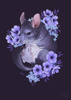 Animal Sketches, Animal Drawings, Art Sketches, Art Drawings, Wallpaper Kawaii, Chinchilla Baby, Animal Posters, Cute Art, Art Inspo