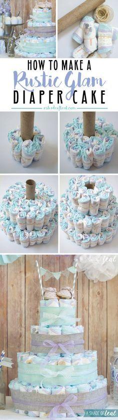 Tutorial tarta de pañales para babyshower o bautizo