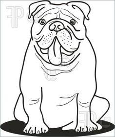 Bulldog Sticking Out Its Tongue Coloring Page