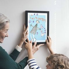 Personalised Portrait Print From Your Child's Drawing