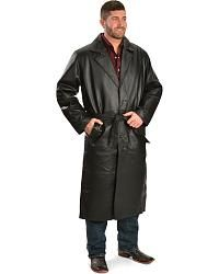 Vintage Leather Men's Leather Trench Coat - Sheplers