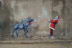 Joyeux Noël Street Art // Tyler