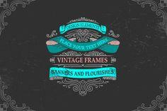 Vintage Banners&Labels  by BON-design on @creativemarket