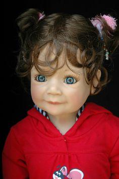 "Masterpiece Jenna Monika Levenig 32"" Blonde Vinyl Cloth Doll Stand Included | eBay"