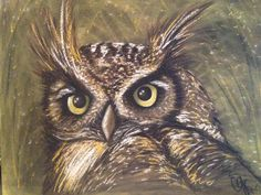 Looking for painting project inspiration? Check out Mixed Media Owl by member CorinaG. - via @Craftsy