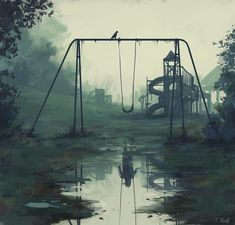 Stefan Koidl is an Austrian freelance illustrator, who produces eerie illustrations in Photoshop. His works feature various creepy motives, which range from urban legends to mythical creatures. Stefan said he's been drawing since he was a Arte Horror, Horror Art, Horror Movies, Creepy Paintings, Creepy Drawings, Face Paintings, Dark Art Paintings, Dark Art Drawings, Digital Paintings