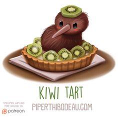 Daily+Paint+1600.+Kiwi+Tart+by+Cryptid-Creations.deviantart.com+on+@DeviantArt