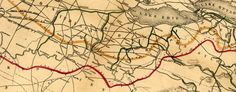 Another great map - Vaughan's U.S. Map of Canals and Railroads (1853) #map via @TheBigMapBlog