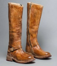 """GLAYE Tan Rustic - Distressed Leather Women's Riding Boot """"all I want for Christmas is"""".this pair of boots! Riding Boots Fashion, Fashion Boots, Tall Riding Boots, Wide Calf Boots, Cool Boots, Sexy Boots, White Boots, Top Shoes, Over The Knee Boots"""