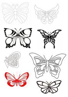 шаблон трафарет бабочки