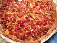 Tarte aux tomates cerises et à la mozzarella