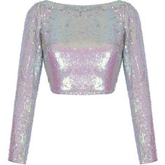 Pink Sequin Skirt | Moda Operandi ($2,170) ❤ liked on Polyvore featuring skirts, tops, co-ords, high waisted skirts, white pencil skirt, pencil skirts, sequin skirts and high-waisted skirt