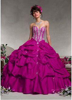 Alluring Taffeta Sweetheart Neckline Floor-length Ball Gown Prom Dress