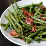 The only way I can get my husband to eat green beans---with bacon!