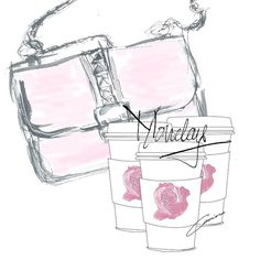 It's a new week and I got a pink @maisonvalentino feeling but it's also #ineedmorethanonecoffeeday #supergirl #art #artist #monday #coffee #draw #doodle #maisonvalentino #valentino #valentinobag #fashion #fashionista #fashionsketch #fashionillustrator #fashionillustration #ink #illustrator #inspiration #illustration #instafashion #love #pink #roses #sketch #trendyfashionillustrations #wakeup