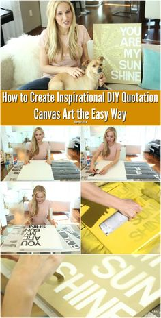 How to Create Inspirational DIY Quotation Canvas Art the Easy Way {Video} - We live in a big house with a lot of blank walls.  This is a good thing for me, since I love making wall art.  I am constantly on the search for cool new ideas, and this time around I discovered one of the best yet—easy, beautiful DIY quotation art!  This is a wonderful way to fill up your walls with the lyrics and quotations that inspire you and your family.  It's easier than you think. #diy #decorating #quote…