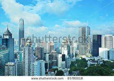 Hong Kong - stock photo San Francisco Skyline, Hong Kong, New York Skyline, Asia, Stock Photos, Travel, Viajes, Trips, Tourism