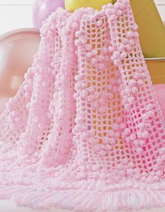 ❤❤❤ BABY BUBBLE WRAPS ❤❤❤ What an airy delicate lacy gift this pattern gives to decorate - 5 more design patterns to choose from Wavy Strips, Cluster Strips, Ripple Clusters, Alternating Bobbles, Cluster Blocks, and Cluster Stripes. - All Levels ~ Crochet Baby Blanket / Afghan