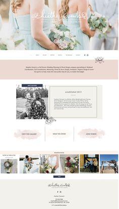 floral website beautiful website design feminine website design florist websi - Wix Website Ideas - DIY your own website with Wix. Wedding Website Design, Fashion Website Design, Beautiful Website Design, Custom Website Design, Design Websites, Web Design Trends, Layout Design, Website Design Layout, Ui Design