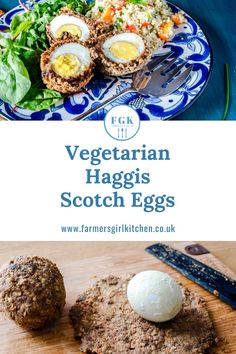 These Vegetarian Haggis Scotch Eggs are an absolute delight to make and eat.  The veggie haggis makes the perfect covering for the eggs and they are ideal warm or cold served with salad #vegetarian #scotcheggs #eggs #picnic #salad Easy Summer Meals, Summer Recipes, Fish Recipes, Vegan Recipes, Salad Recipes, Picnic Foods, Picnic Recipes, Vegetarian Haggis, Burns Supper