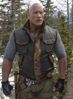 The latest fashion attire is here for you. Here is look the classic Jumanji: The Next Level Dwayne Johnson Spencer Vest In Distressed Brown Leather. Dwayne Johnson Family, The Rock Dwayne Johnson, Dwayne The Rock, Rock Johnson, Brown Suede Jacket, Brown Vest, Leather Vest, Real Leather, Chucky
