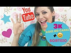 O CANAL CHEGOU A 3K!!!! Agradecimento + Sorteio