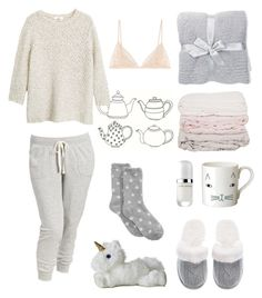 """""""What to Wear: Netflix Binge"""" by smartiesandparties ❤ liked on Polyvore featuring Donna Wilson, Charter Club, Victoria's Secret, Barefoot Dreams, Old Navy, Marc Jacobs, Kiki de Montparnasse, MANGO, contest and WhatToWear"""