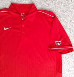 Nike Dri-Fit MILFORD EAGLE POLO T-SHIRT Short Sleeve Golf Polyester Dry MED (L?) #Nike #ShirtsTops
