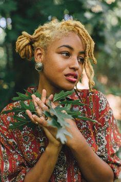 Blonde Locs, natural hair
