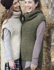 pattern knit crochet woman vest autumn winter katia 5998 14 p Knit Vest Pattern, Sweater Knitting Patterns, Knitting Stitches, Free Knitting, Oversize Pullover, Knitwear Fashion, Crochet Woman, Crochet Poncho, Crochet Clothes