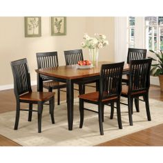 Nora Two-tone Solid Wood Slat-back Dining Chairs (Set of 2) | Overstock.com Shopping - The Best Deals on Dining Chairs