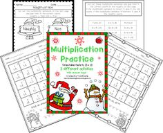 FREE Christmas Multiplication Practice  It is beginning to look a lot like Christmas and with that comes all the exciting Christmas activities. Christmas is my favorite time of year and I always have more ideas than time. One thing I never skip out on is giving my students these fun multiplication practice pages.  Included are 3 fun Christmas/winter themed multiplication pages for students to practice multiplying numbers to 10 x 10. There are 2 riddle pages and a multiplication sentence sort…