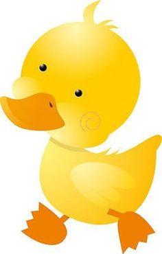 Cute Yellow Duckling Strolling Under A Mushroom Umbrella On A ...