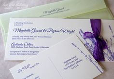 Lavender Cards For Weddings On Pinterest Lavender Wedding Invitations Lave