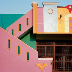 Indian Houses inspired by Ettore Sottsass. Tirunamavalai, Tamil Nadu Photography by Vincent Leroux via Dark Silence In Suburbia