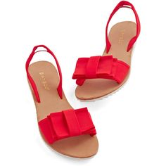 Dreaming on the Dock Sandal. Upon a wooden pier, you sit pondering beauty in these red slingback sandals. Cute Sandals, Women's Shoes Sandals, Shoe Boots, Flat Sandals, Bow Flats, Gladiator Sandals, Leather Sandals, Wooden Sandals, Yellow Sandals