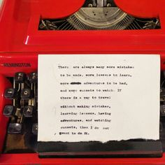 Travel quote and inspiration (Typewriter typography)