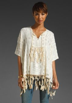Feather Lace Tunic. floaty and feathery.....nice I so want!!!