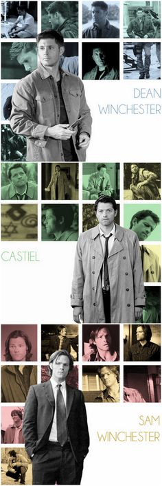 Dean. Castiel. Sam. Supernatural.